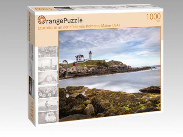 """Puzzle Motiv """"Leuchtturm an der Küste von Portland, Maine (USA)"""" - Puzzle-Schachtel zu 1000 Teile Puzzle"""