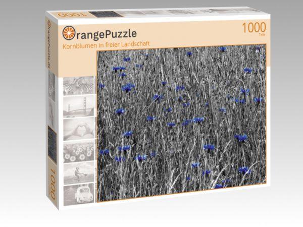 """Puzzle Motiv """"Kornblumen in freier Landschaft"""" - Puzzle-Schachtel zu 1000 Teile Puzzle"""