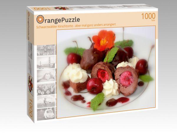 """Puzzle Motiv """"Schwarzwälder Kirschtorte - aber mal ganz anders arrangiert"""" - Puzzle-Schachtel zu 1000 Teile Puzzle"""