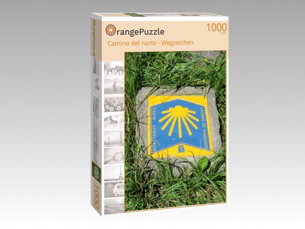 """Puzzle Motiv """"Camino del norte - Wegzeichen"""" - Puzzle-Schachtel zu 1000 Teile Puzzle"""