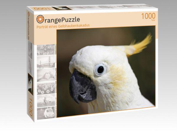 """Puzzle Motiv """"Porträt eines Gelbhaubenkakadus"""" - Puzzle-Schachtel zu 1000 Teile Puzzle"""