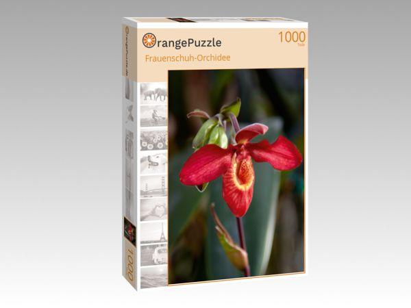 """Puzzle Motiv """"Frauenschuh-Orchidee"""" - Puzzle-Schachtel zu 1000 Teile Puzzle"""
