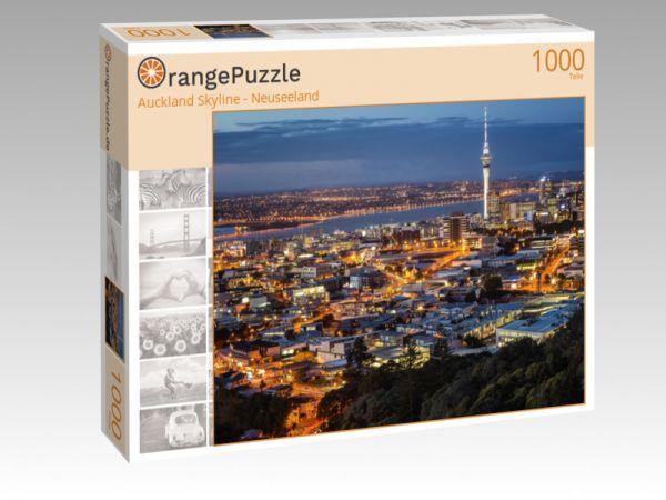 "Puzzle Motiv ""Auckland Skyline - Neuseeland"" - Puzzle-Schachtel zu 1000 Teile Puzzle"