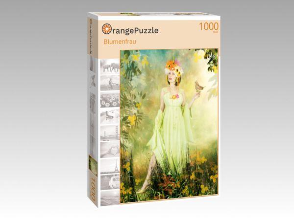 "Puzzle Motiv ""Blumenfrau"" - Puzzle-Schachtel zu 1000 Teile Puzzle"