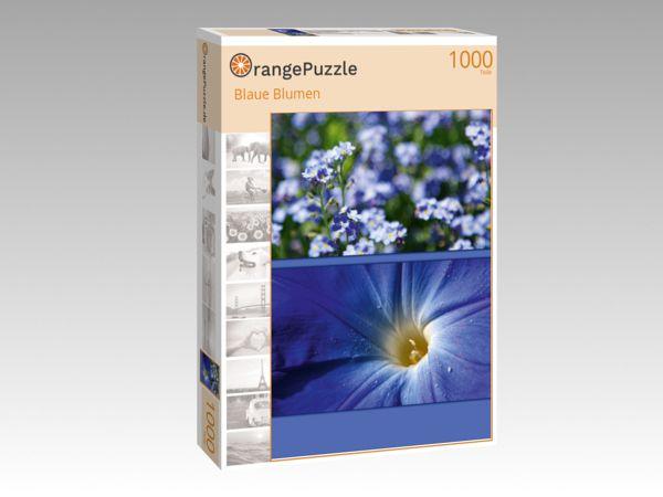 "Puzzle Motiv ""Blaue Blumen"" - Puzzle-Schachtel zu 1000 Teile Puzzle"