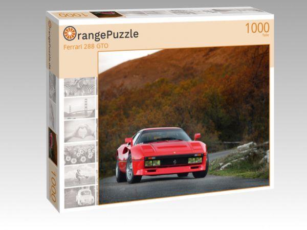 """Puzzle Motiv """"Ferrari 288 GTO"""" - Puzzle-Schachtel zu 1000 Teile Puzzle"""