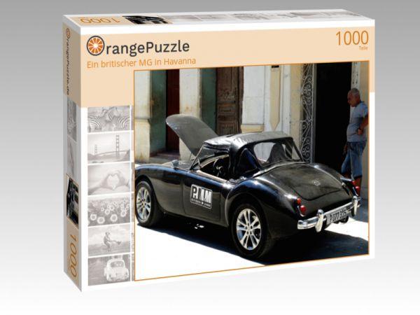 """Puzzle Motiv """"Ein britischer MG in Havanna"""" - Puzzle-Schachtel zu 1000 Teile Puzzle"""
