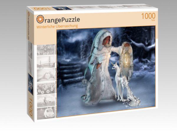 """Puzzle Motiv """"Winterliche Überraschung"""" - Puzzle-Schachtel zu 1000 Teile Puzzle"""