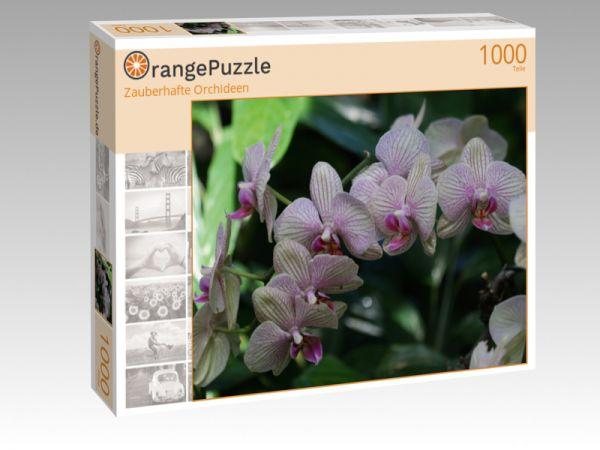 "Puzzle Motiv ""Zauberhafte Orchideen"" - Puzzle-Schachtel zu 1000 Teile Puzzle"