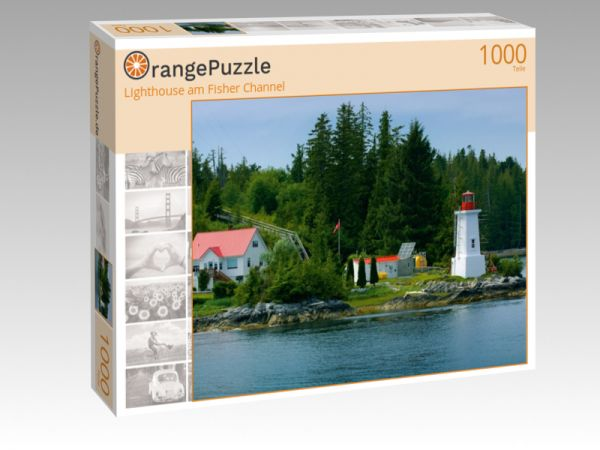 "Puzzle Motiv ""Lighthouse am Fisher Channel"" - Puzzle-Schachtel zu 1000 Teile Puzzle"