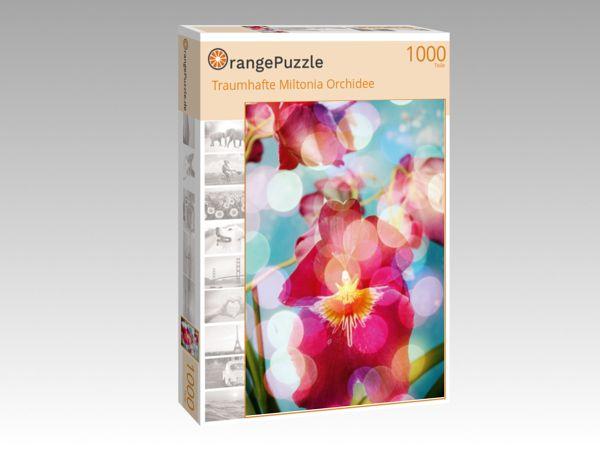 "Puzzle Motiv ""Traumhafte Miltonia Orchidee"" - Puzzle-Schachtel zu 1000 Teile Puzzle"