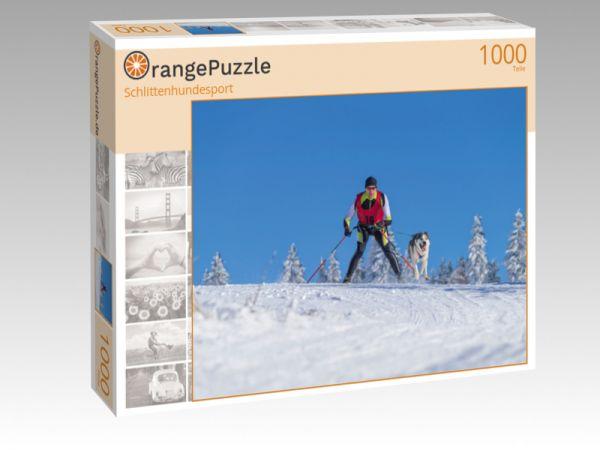 """Puzzle Motiv """"Schlittenhundesport"""" - Puzzle-Schachtel zu 1000 Teile Puzzle"""