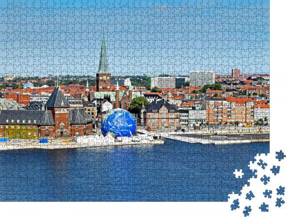 """Puzzle-Motiv """"Stadtlandschaft von Aarhus in Dänemark"""" - Puzzle-Schachtel zu 1000 Teile Puzzle"""