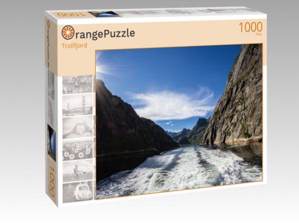 """Puzzle Motiv """"Trollfjord"""" - Puzzle-Schachtel zu 1000 Teile Puzzle"""