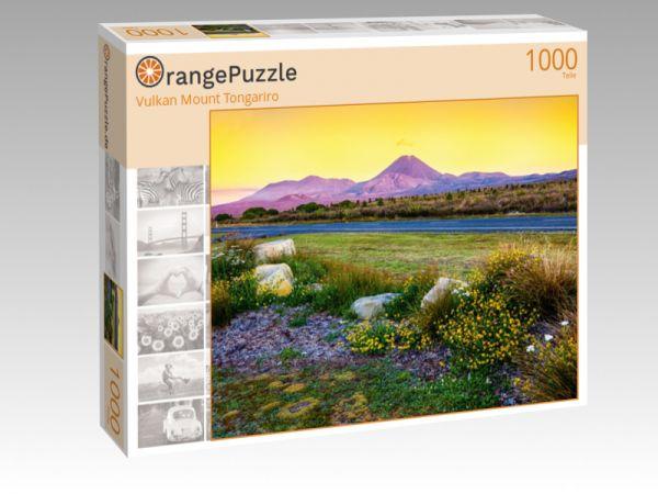 "Puzzle Motiv ""Vulkan Mount Tongariro"" - Puzzle-Schachtel zu 1000 Teile Puzzle"