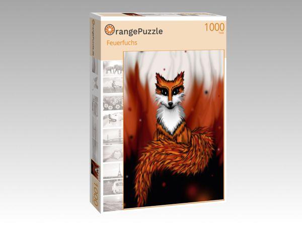 "Puzzle Motiv ""Feuerfuchs"" - Puzzle-Schachtel zu 1000 Teile Puzzle"