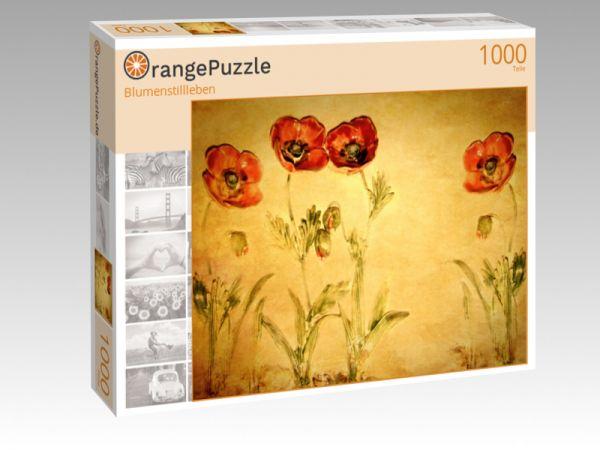 """Puzzle Motiv """"Blumenstillleben"""" - Puzzle-Schachtel zu 1000 Teile Puzzle"""