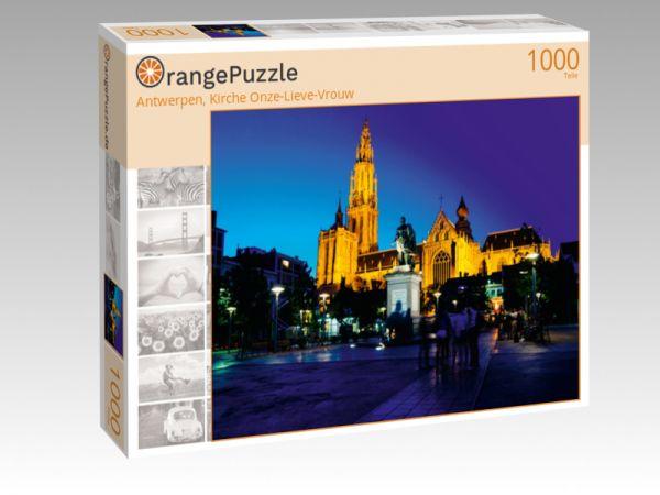 "Puzzle Motiv ""Antwerpen, Kirche Onze-Lieve-Vrouw"" - Puzzle-Schachtel zu 1000 Teile Puzzle"