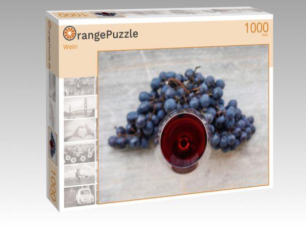 """Puzzle Motiv """"Wein"""" - Puzzle-Schachtel zu 1000 Teile Puzzle"""