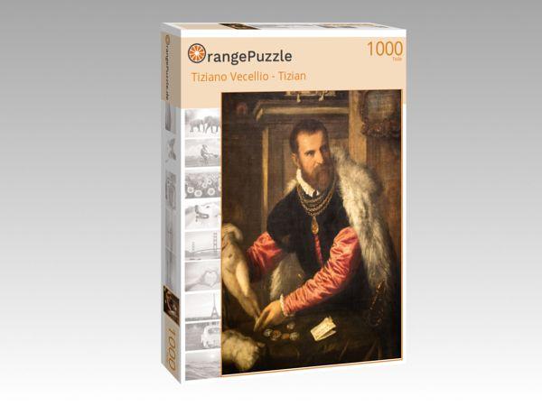 """Puzzle Motiv """"Tiziano Vecellio - Tizian"""" - Puzzle-Schachtel zu 1000 Teile Puzzle"""