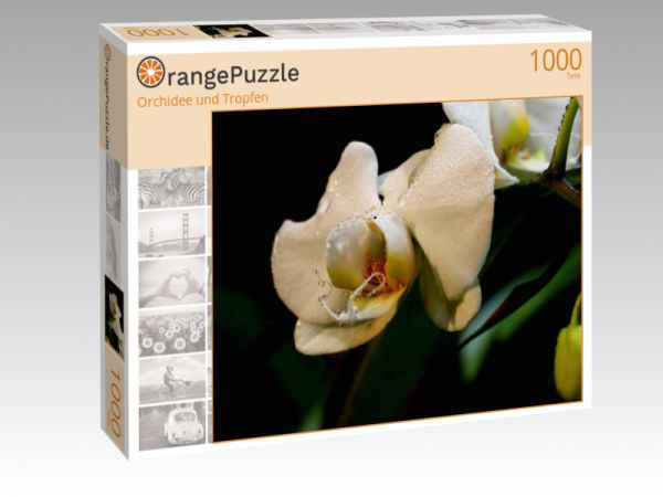 """Puzzle Motiv """"Orchidee und Tropfen"""" - Puzzle-Schachtel zu 1000 Teile Puzzle"""