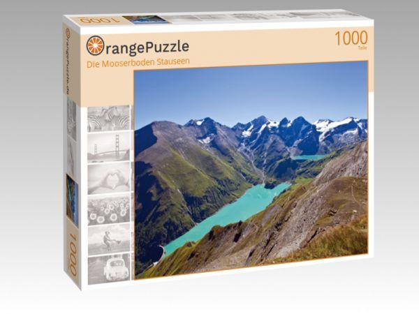 """Puzzle Motiv """"Die Mooserboden Stauseen"""" - Puzzle-Schachtel zu 1000 Teile Puzzle"""
