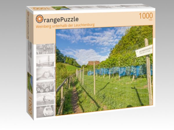 """Puzzle Motiv """"Weinberg unterhalb der Leuchtenburg"""" - Puzzle-Schachtel zu 1000 Teile Puzzle"""