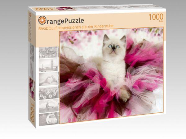 """Puzzle Motiv """"RAGDOLLS Impressionen aus der Kinderstube"""" - Puzzle-Schachtel zu 1000 Teile Puzzle"""