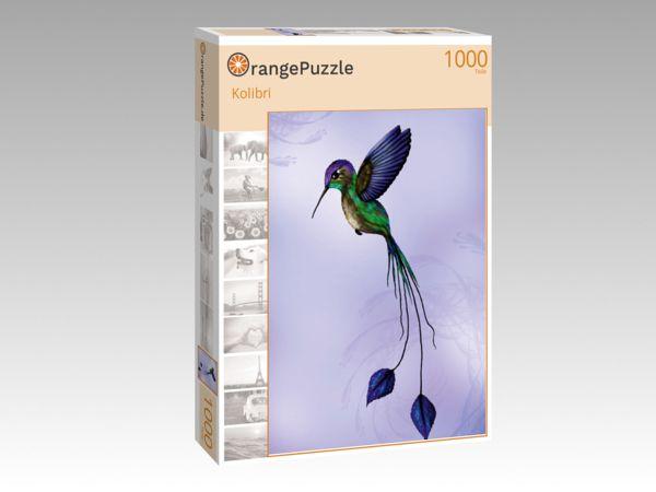 """Puzzle Motiv """"Kolibri"""" - Puzzle-Schachtel zu 1000 Teile Puzzle"""