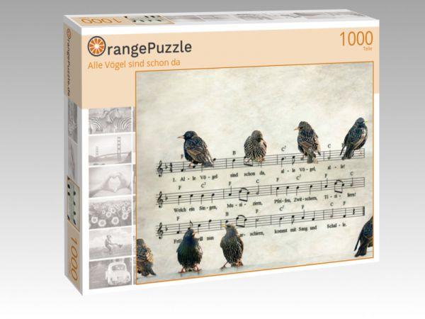 "Puzzle Motiv ""Alle Vögel sind schon da"" - Puzzle-Schachtel zu 1000 Teile Puzzle"