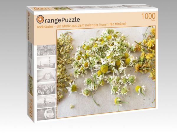 """Puzzle Motiv """"Teekräuter - Ein Motiv aus dem Kalender Komm Tee trinken!"""" - Puzzle-Schachtel zu 1000 Teile Puzzle"""