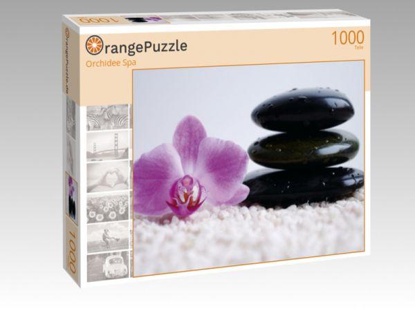 """Puzzle Motiv """"Orchidee Spa"""" - Puzzle-Schachtel zu 1000 Teile Puzzle"""