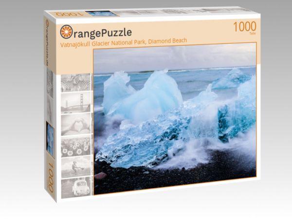 "Puzzle Motiv ""Vatnajökull Glacier National Park, Diamond Beach"" - Puzzle-Schachtel zu 1000 Teile Puzzle"