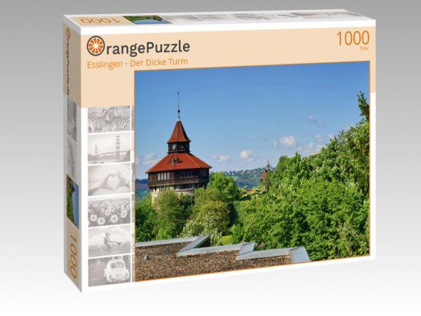 """Puzzle Motiv """"Esslingen - Der Dicke Turm"""" - Puzzle-Schachtel zu 1000 Teile Puzzle"""