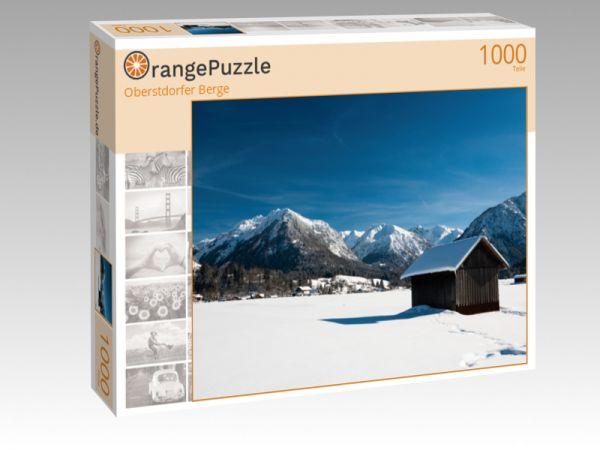 "Puzzle Motiv ""Oberstdorfer Berge"" - Puzzle-Schachtel zu 1000 Teile Puzzle"