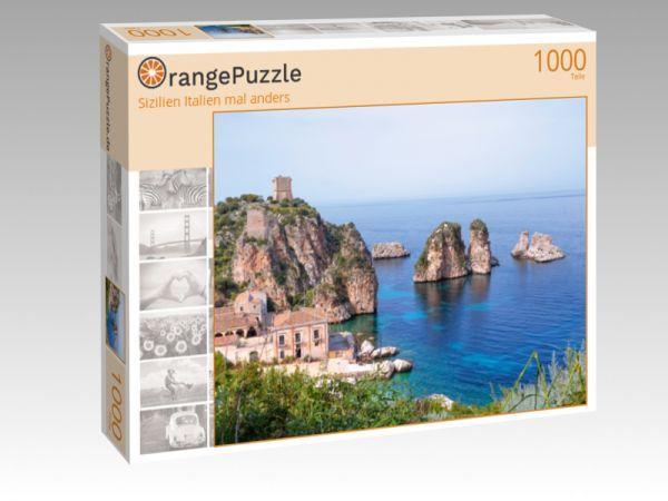 """Puzzle Motiv """"Sizilien Italien mal anders"""" - Puzzle-Schachtel zu 1000 Teile Puzzle"""