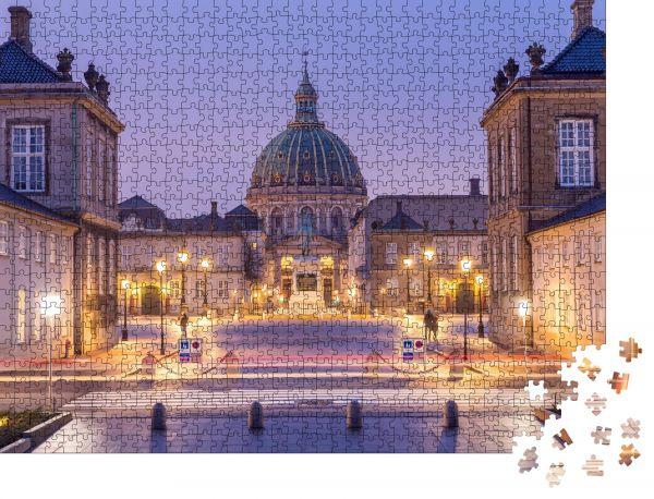 """Puzzle-Motiv """"Frederiks Kirche am Kopenhagener Stadtplatz in Dänemark"""" - Puzzle-Schachtel zu 1000 Teile Puzzle"""