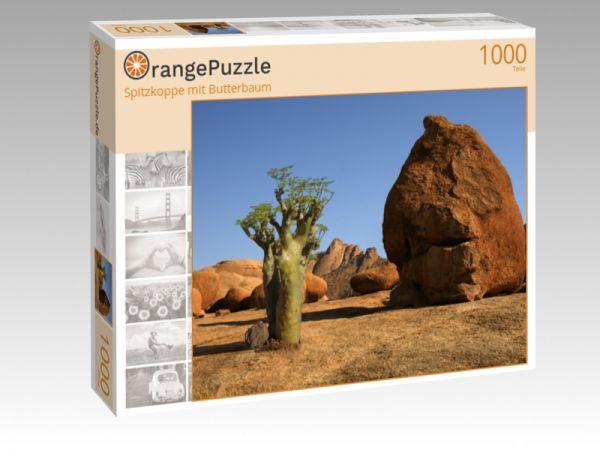 """Puzzle Motiv """"Spitzkoppe mit Butterbaum"""" - Puzzle-Schachtel zu 1000 Teile Puzzle"""
