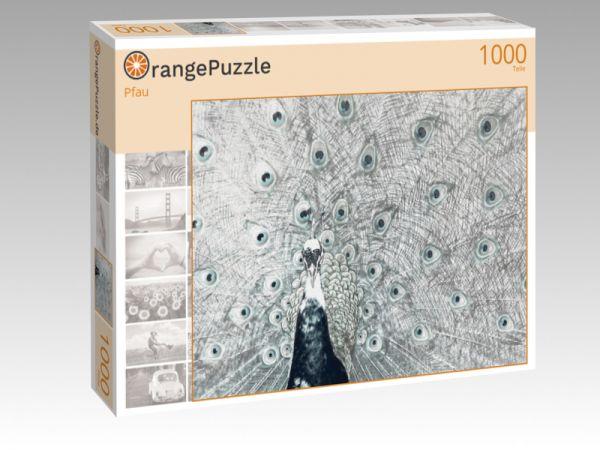 """Puzzle Motiv """"Pfau"""" - Puzzle-Schachtel zu 1000 Teile Puzzle"""