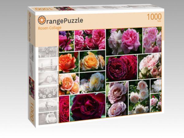 "Puzzle Motiv ""Rosen Collage"" - Puzzle-Schachtel zu 1000 Teile Puzzle"