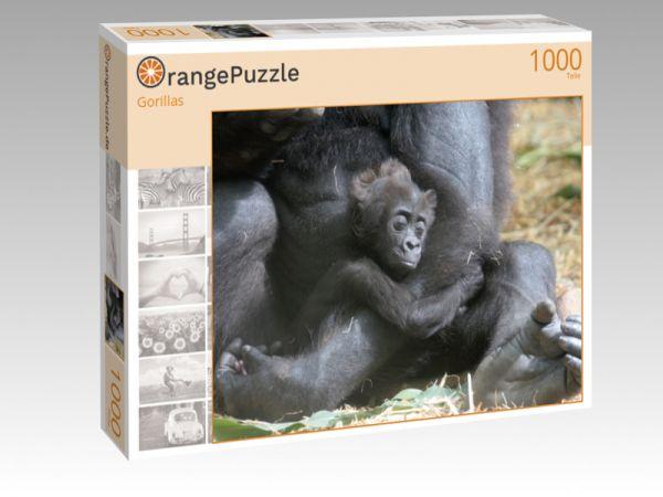 """Puzzle Motiv """"Gorillas"""" - Puzzle-Schachtel zu 1000 Teile Puzzle"""