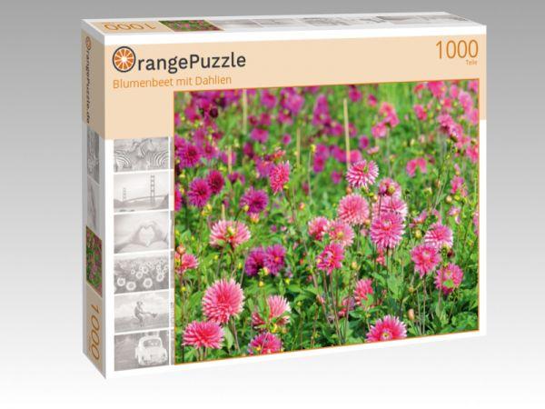 """Puzzle Motiv """"Blumenbeet mit Dahlien"""" - Puzzle-Schachtel zu 1000 Teile Puzzle"""
