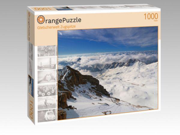 """Puzzle Motiv """"Gletscherwelt Zugspitze"""" - Puzzle-Schachtel zu 1000 Teile Puzzle"""