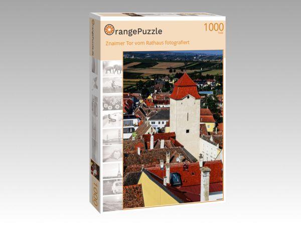 "Puzzle Motiv ""Znaimer Tor vom Rathaus fotografiert"" - Puzzle-Schachtel zu 1000 Teile Puzzle"
