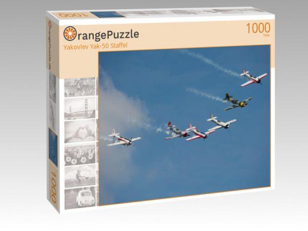 "Puzzle Motiv ""Yakovlev Yak-50 Staffel"" - Puzzle-Schachtel zu 1000 Teile Puzzle"