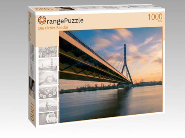 "Puzzle Motiv ""Die Fleher Brücke"" - Puzzle-Schachtel zu 1000 Teile Puzzle"