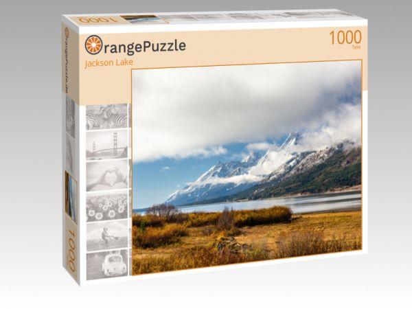 """Puzzle Motiv """"Jackson Lake"""" - Puzzle-Schachtel zu 1000 Teile Puzzle"""