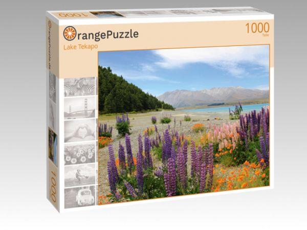 """Puzzle Motiv """"Lake Tekapo"""" - Puzzle-Schachtel zu 1000 Teile Puzzle"""