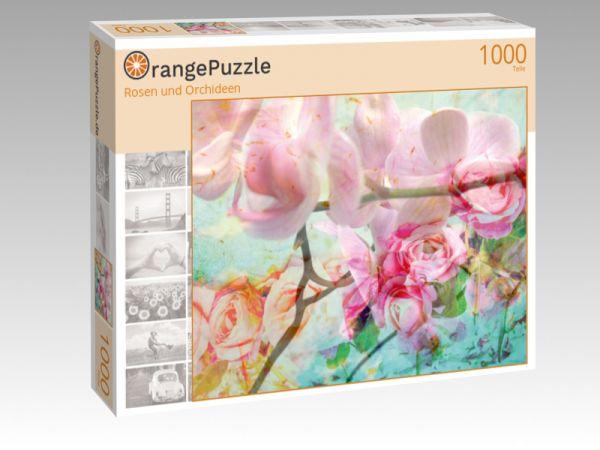 """Puzzle Motiv """"Rosen und Orchideen"""" - Puzzle-Schachtel zu 1000 Teile Puzzle"""