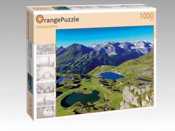 """Puzzle Motiv """"Seenparadies"""" - Puzzle-Schachtel zu 1000 Teile Puzzle"""